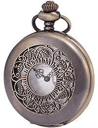 KS KSP049 - Half Hunter Series Reloj de Bolsillo de Cuarzo, Analógico, Caja Bronce
