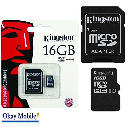 Original Kingston MicroSD SDHC Karte Speicherkarte 16 GB Für Microsoft Lumia 650 Dual Sim - 16GB