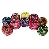 Baumwollgarn - Strickgarn 10 x 5 Gramm (47,5 Yards) Sortierte Farbe Acrylwolle Ideal zum Stricken, Sticken, Häkeln, Mini-Projekte, Kunst und Handwerk