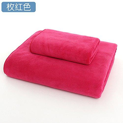 Daadi Erhöhen Dicken Weichen Wasseraufnahme ist Nicht aus nach Satz Handtücher Bademäntel Bettwäsche, rot 180 x 80 cm (Hotel-bettwäsche-satz)