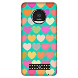 Bhishoom Designer Printed Back Case Cover for Moto Z Play (Heart :: Love :: Red :: Doodle :: Texture & Pattern)