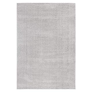 andiamo Shaggy Teppich Cala Dor, weiche Kunstfaser, strapazierfähig pflegeleicht, Farbe:Grau, Größe:120 x 170 cm