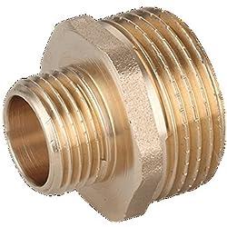 """laiton Manchon Bague Réduction Réducteur connecteurs 1/2"""" mâle - 1/4"""" mâle"""