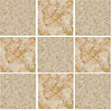 PACK OF 10 CREAM AND BROWN/ GREEN MARBLE Mosaic tile transfers STICKERS - , peel and stick transform your bathroom or kitchen VERY REALISTIC