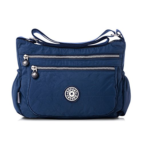 Nlyefa Nylon Handtasche Umhängetasche Damen Sportliche Schultertasche Wasserdicht EINWEG -