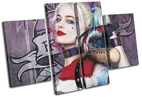 (Bold Bloc Design - Suicide Squad Harley Quinn Movie Greats 140x90cm MULTI Leinwand Kunstdruck Box gerahmte Bild Wand hangen - handgefertigt In Grossbritannien - gerahmt und bereit zum Aufhangen - Canvas Art Print)