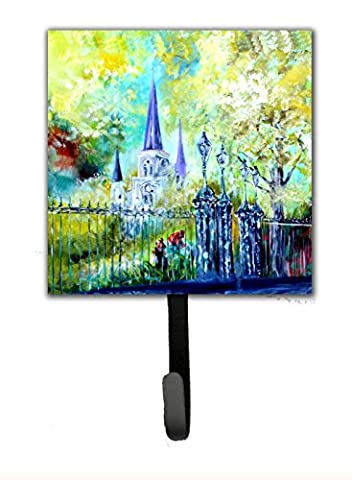 Caroline's Treasures MW1183SH4 Across The Square St Louis Cathedral Leash Or Key Holder, Small, Multicolor
