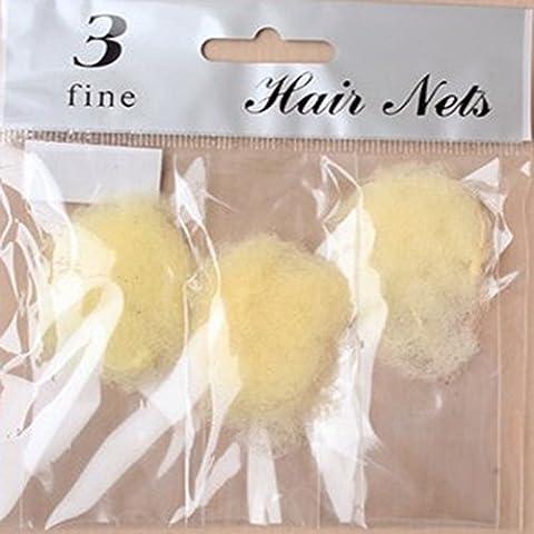 3 PACK BROWN OR BLACK FINE MESH HAIR NETS UNISEX