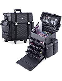 MUA LIMITED Valigia Trolley Professionale per Makeup Artist, Beauty Case Scomparto Morbido Beauty Case per Cosmetici e Trucchi