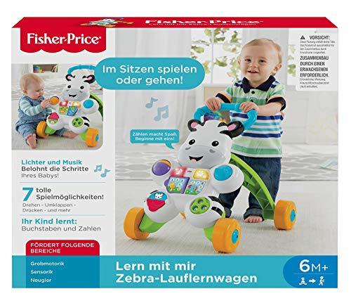 Fisher-Price DLD94 Zebra Lauflernwagen Lauflernhilfe mit Musik und Lichtern lehrt Buchstaben und Zahlen, ab 6 Monaten deutschsprachig - 9