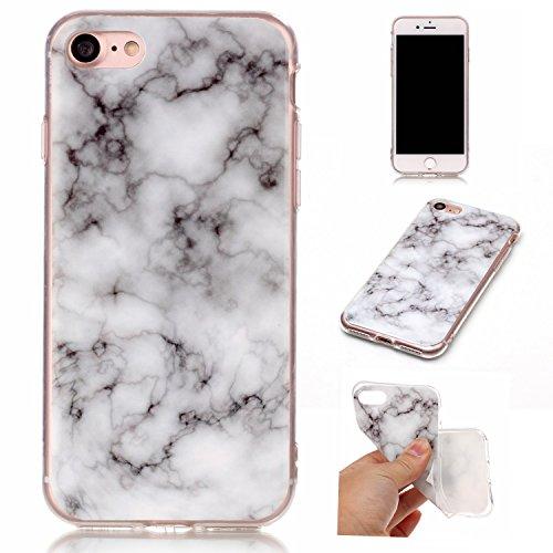 Für Apple IPhone 7 Fall Marbling Beschaffenheit weiche TPU Abdeckung dünne ultra dünne Anti-Kratzer-Schlag-Absorptions-schützende rückseitige Abdeckungs-Shell ( Color : J ) E