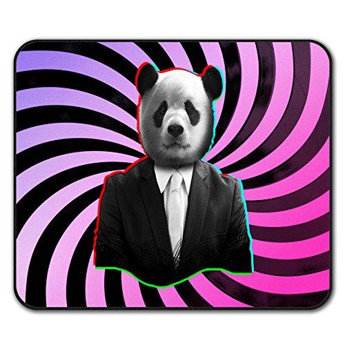 Panda Passen Tier Tier Mouse Mat Pad, Wild Rutschfeste Unterlage - Glatte Oberfläche, verbessertes Tracking, Gummibasis von Wellcoda Uniform Chino