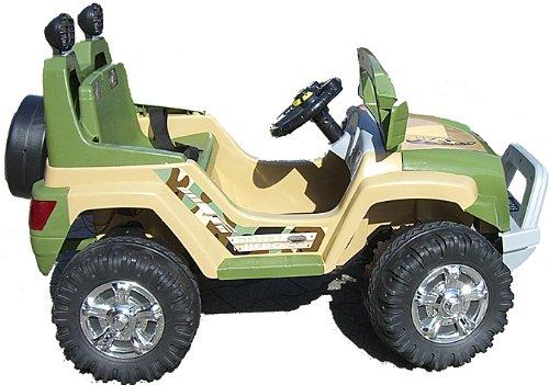 Imagen principal de crooza ® JEEP - OffRoad Coche con Motor y Batería de 12V coches para niños **2x MOTORES** beige