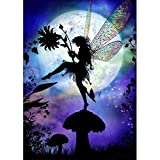 Moonlight Fairy  DIY 5D Diamond Painting by Number Kits, Saihui Crystal Rhinestone Embroidery Pictures Arts Craft for Home Wall Decor Gift (30 * 40cm)