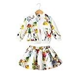 Sanlutoz Kids Girl Jacket Skirt Set 2pcs Outfit Long Sleeves Tracksuit Clothing Set (5-6 years/120cm, CCSGW012)