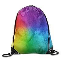 NiPapack Rainbow Watercolor Ladies Drawstring Bags Bundle Pack Shoulder Bags