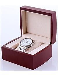 MUXIA Caja de Reloj de Pintura Simple/Caja de Reloj de Pintura de Madera Maciza