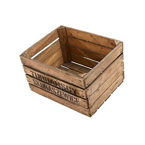 4 St/ück Birnenkisten K/önig flambiert//geflammt Holzkiste//Weinkiste Holzkiste Apfelkiste Obstkiste aus dem Alten Land XXX ca 49 x 30 x 28 cmxxx