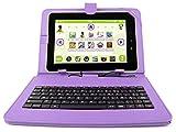 DURAGADGET Etui violet avec clavier intégré AZERTY pour tablette enfant Kurio 10s by Gulli + stylet tactile BONUS - Garantie 2 ans