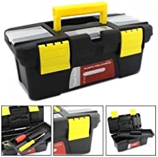Latiq 10 inches Lightweight Effective Tool Boxes to Keep Your Tools Organized - Tools, Hammer, Drill, Wrench, Accessories, Hardware