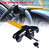 #2: AREO 315 Universal T-Shape Car Auto Steering Wheel Anti-Theft Security Device Lock with 2 Keys