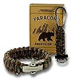 Купить Visionquest Outdoor & Survival Paracord Geschenkset | Armband mit Edelstahlverschluss | Schlüsselanhänger mit Feuerstahl | Ebook & Zubehör