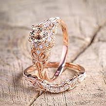 Lomelomme Anillo Mujer Anillo Anillo de compromiso de boda para mujer Anillo de compromiso de oro