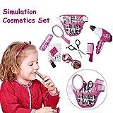 Blentude Jouet de Maquillage, Rose Simulation Coiffure cosmétiques beauté Valise Toy Set Jeu de rôle pour Les Petites Filles Imaginative...