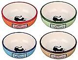 Trixie Ceramic Bowl for Cat 0.35 Litre 13 cm, Assorted colors