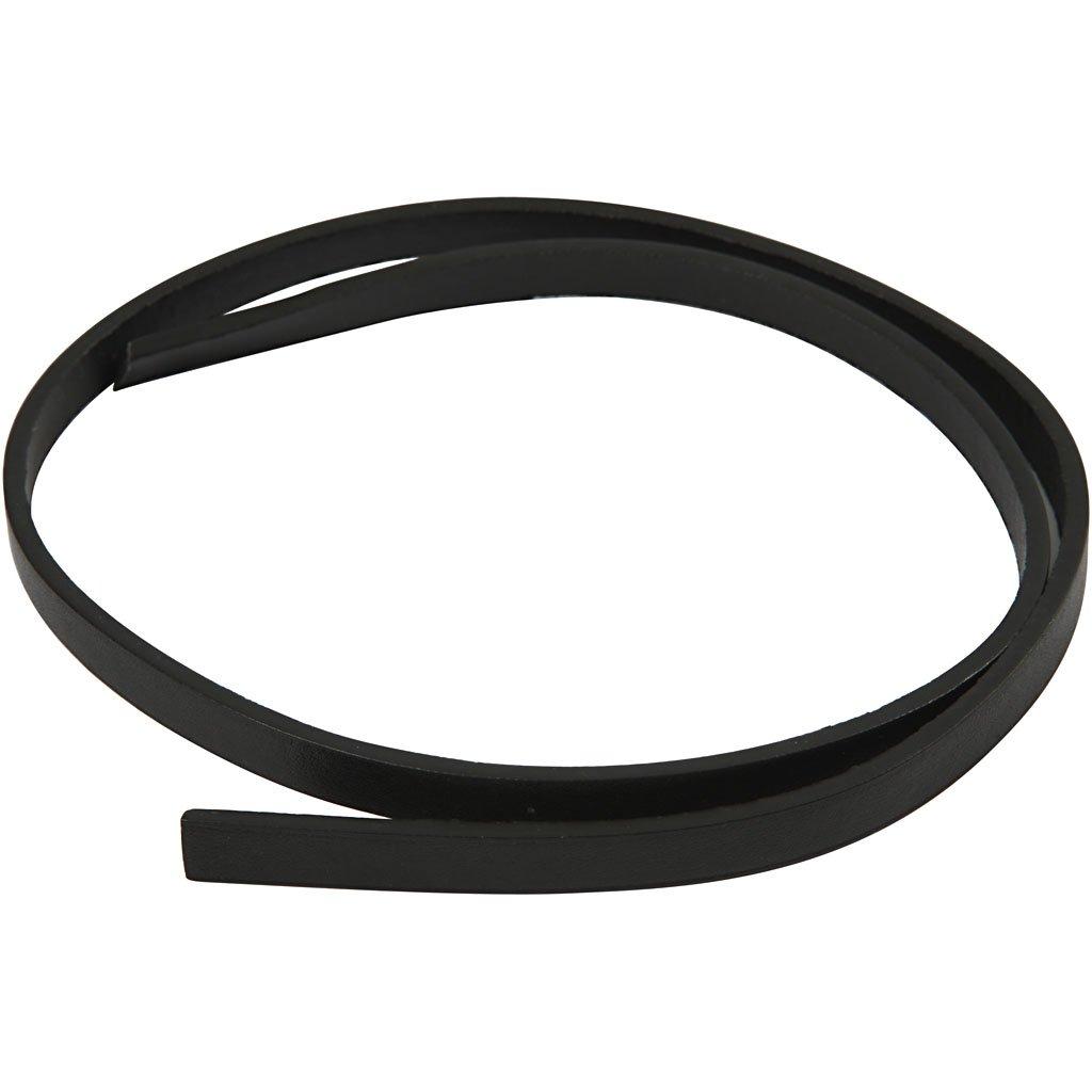 Cintura di finto cuoio, l: 10 mm, nero, 1m