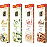 [Sponsored]Zed Black No.1 Premium Incense Sticks Jumbo (Pack Of 4 Fragrance) Scent Sticks For Everyday Use- Long Lasting Pacifying Sticks