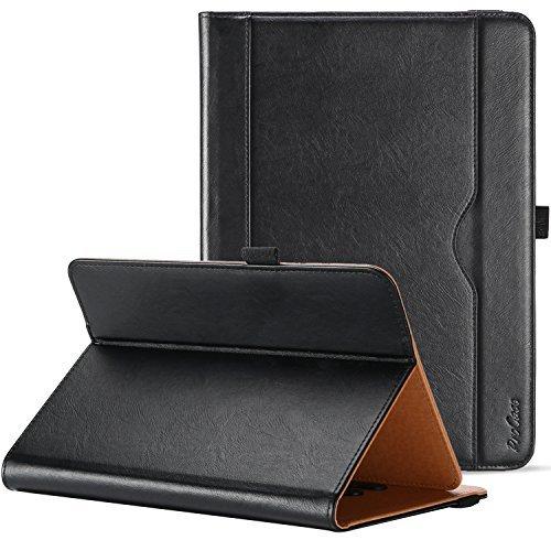 """ProCase 9/9.7/10 / 10.1 Zoll Tablet Hülle Cover Universal, Premium PU Lederständer Klappenhülle für 9\"""" 10\""""10.1\"""" Tablet, mit mehreren Betrachtungswinkeln, Dokumentenkartentasche und Stylus Pen -Schwarz"""