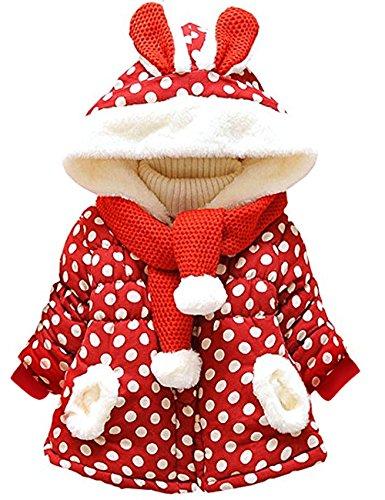 Bebé Niñas Chaqueta Sudadera con Capucha Manga larga Polca Punto Abrigo Hoodies