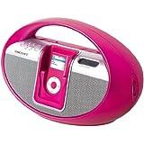 Scott i-SX 10 PK Système d'enceintes / Station d'accueil pour Ipod Radio AM/FM Rose