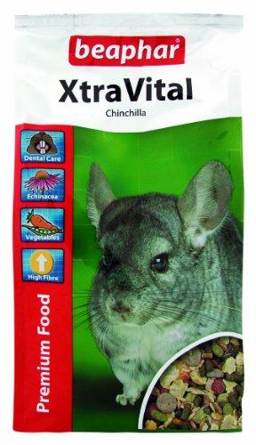 XtraVital Chinchilla Futter | Leckeres Futter für Chinchillas | Mit Alfalfa, Möhren, Erbsenflocken | Niedriger Fettgehalt | 2,5 kg Beutel