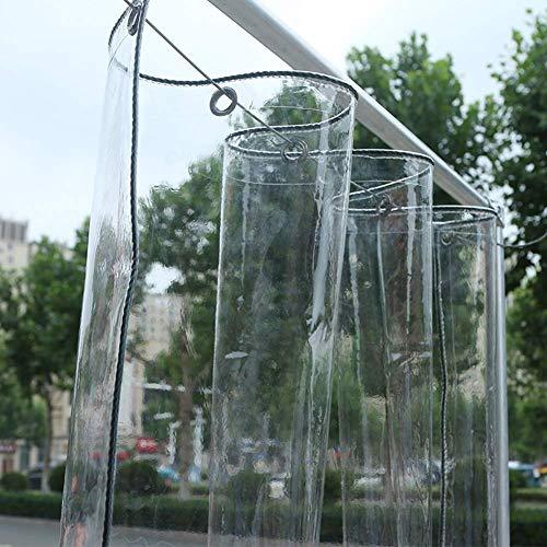 Abdeckplane PVC wasserdichte Plane, Verdicken transparente Kunststoffplatte for Balkonfenster Isolierung, 400 g/m² (Size : 2.4×2m)