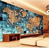 Rureng Benutzerdefinierte 3D-Wandbild Tapete Vliestapete 3D-Reliefkarte Der Welt Wohnzimmer Tv Rückwand Bettwäsche Zimmer 3D-Fototapete-150X120Cm