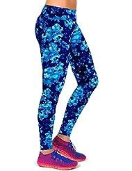 Vovotrade 1pc alto Cintura yoga fitness Sport pantalones impresos Stretch cropped leggings (E, Tamaño:M/27)