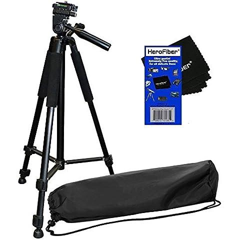 Herofiber - Treppiede serie leggera Pro con borsa da trasporto 183 cm per fotocamere e (1 Digital Still Camera)