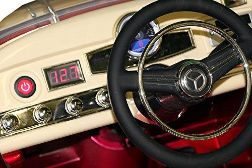 RC Auto kaufen Kinderauto Bild 6: Mercedes Benz 300s Oldtimer Lizenz Kinderfahrzeug mit 2x 35W Motor Kinderauto Elektroauto Fernbedienung MP3 Anschluss in Schwarz*