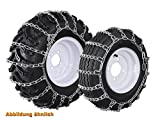 Set of Snow Chains for Small Machines Ladder-Type Chains 23x10.50 - 12/22x11.00/22x11 - 10/23x10.00 12/24x9.50