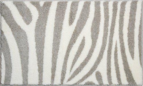 Linea Due Zebra Alfombra de Baño, Poliacrílico, Naturaleza, 60 x 100 cm
