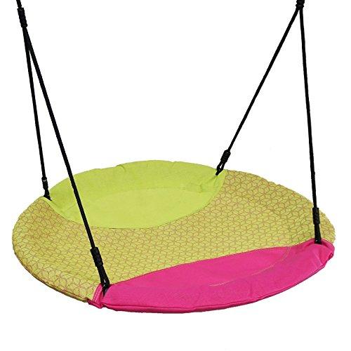 Gartenpirat Nestschaukel 150 kg Ø 100 cm Pink/grün Outdoor