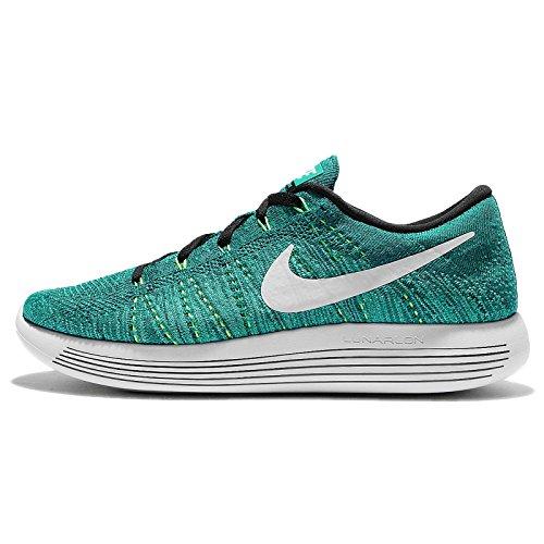 Nike Herren Lunarepic Low Flyknit Laufschuhe Verde (Rio Teal / White-Clear Jade-Voltage Green)