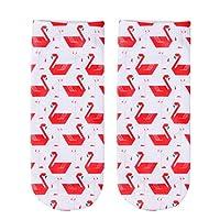 FHCGWZ 5pcs/set New 3D Print Casual Polyester Socks Women Durable Socks Cute Low Cut Ankle Sock Cartoons Casual Type Teenager Socks