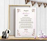 Patenbrief, Urkunde Taufbrief als Geschenk zur Taufe für Taufpatin vom Patenkind/Taufkind zur Erinnerung, personalisierbar, auf Papier & Leinwand