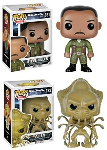 Funko POP ID4 Independence Day Steve Hiller and Alien 2 Piece BUNDLE by Independence Day
