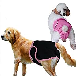 ELECTROPRIME Hot Pet Dog Female Puppy Sanitary Panty Short Pant Diaper Underwear Black M