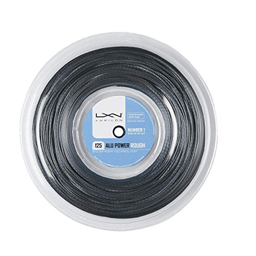 Luxilon Unisex Tennissaite Alu Power 125 Rough, silber, 220 Meter Rolle, 1,25 mm, WRZ990200