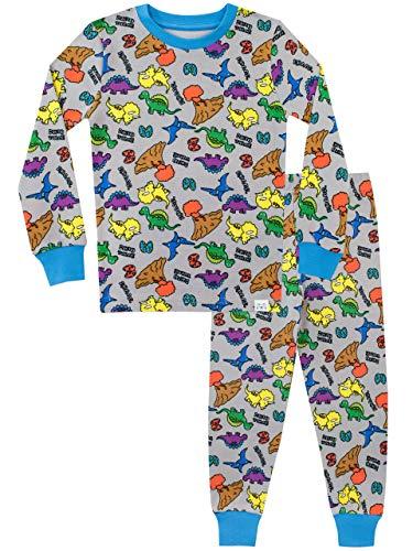 386bbd8623 Harry Bear Pijamas Manga Larga niños Dinosaurio Ajuste